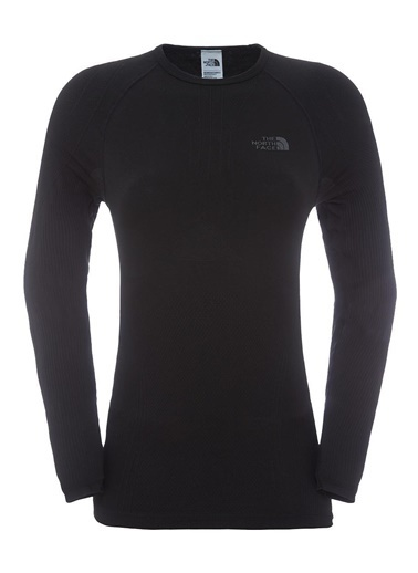 The North Face Hybrid L/S Crew Neck Üst Içlik Siyah Siyah